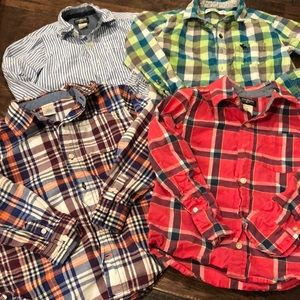 Pack of 4- boys button down dress shirts